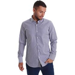 Textiel Heren Overhemden lange mouwen Gmf 971264/03 Blauw