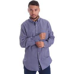 Textiel Heren Overhemden lange mouwen Navigare N691010BD Blauw