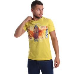Textiel Heren T-shirts korte mouwen Navigare N631017 Geel