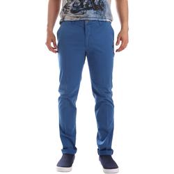 Textiel Heren Chino's Sei3sei PZVI69 7148 Blauw