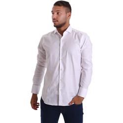 Textiel Heren Overhemden lange mouwen Gmf 971103/01 Wit