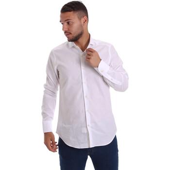 Textiel Heren Overhemden lange mouwen Gmf 971111/11 Wit