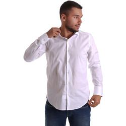 Textiel Heren Overhemden lange mouwen Gmf 971250/01 Wit