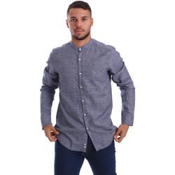 Textiel Heren Overhemden lange mouwen Gmf 971139/13 Blauw