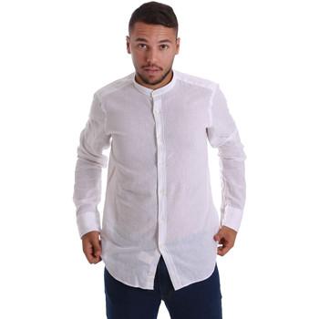 Textiel Heren Overhemden lange mouwen Gmf 971306/01 Wit