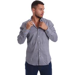 Textiel Heren Overhemden lange mouwen Gmf 971185/03 Zwart