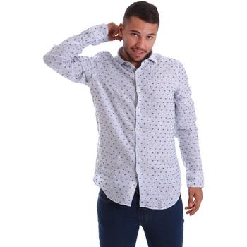Textiel Heren Overhemden lange mouwen Gmf 971312/01 Blauw