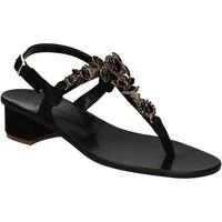Schoenen Dames Sandalen / Open schoenen Positano 2007 Zwart