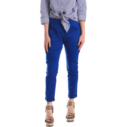 Textiel Dames Chino's Fornarina BE171L75G29112 Blauw