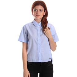 Textiel Dames Overhemden Fornarina BE174567CA1218 Blauw