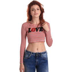 Textiel Dames T-shirts met lange mouwen Fornarina BE175L14JG0976 Rood