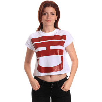 Textiel Dames T-shirts korte mouwen Fornarina BE175L31JG0709 Wit