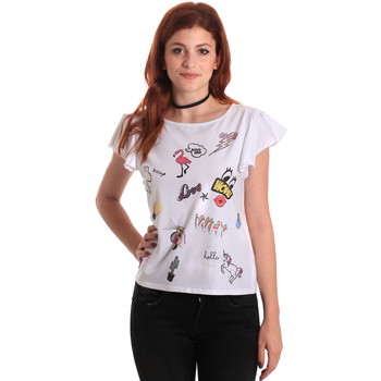 Textiel Dames T-shirts korte mouwen Fornarina BE175L40JG0709 Wit