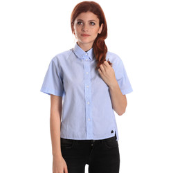 Textiel Dames Overhemden Fornarina SE174567CA1218 Blauw