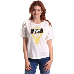 Textiel Dames T-shirts korte mouwen Fornarina SE175L27JG1608 Wit