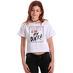 Textiel Dames T-shirts korte mouwen Fornarina SE175L28JG0709 Wit