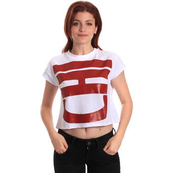 Textiel Dames T-shirts korte mouwen Fornarina SE175L31JG0709 Wit