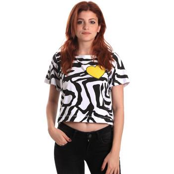 Textiel Dames T-shirts korte mouwen Fornarina SE175L35JG0700 Zwart