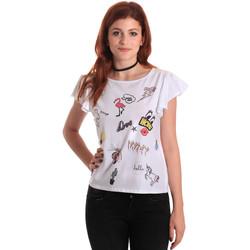 Textiel Dames Tops / Blousjes Fornarina SE175L40JG0709 Wit