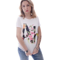 Textiel Dames T-shirts korte mouwen Fracomina FR20SP368 Wit