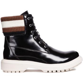 Schoenen Dames Enkellaarzen Geox D847AB 000BC Zwart