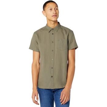 Textiel Heren Overhemden korte mouwen Wrangler W5J1LOX45 Groen