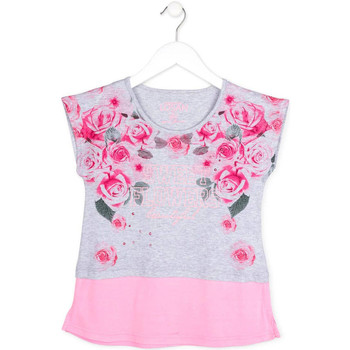 Textiel Meisjes T-shirts korte mouwen Losan 714 1009AB Grijs