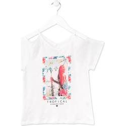 Textiel Meisjes T-shirts korte mouwen Losan 714 1026AB Wit