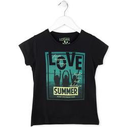 Textiel Meisjes T-shirts korte mouwen Losan 714 1204AB Zwart