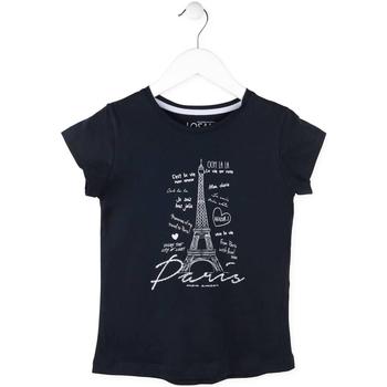 Textiel Meisjes T-shirts korte mouwen Losan 714 1210AB Blauw