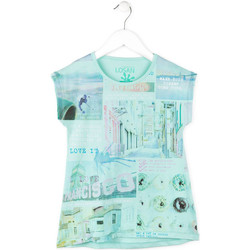 Textiel Meisjes T-shirts korte mouwen Losan 714 1215AB Blauw