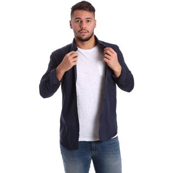 Textiel Heren Overhemden lange mouwen Antony Morato MMSL00408 FA400047 Blauw