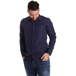 Textiel Heren Overhemden lange mouwen Gmf 972900/04 Blauw