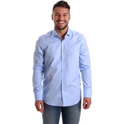 Textiel Heren Overhemden lange mouwen Gmf 972900/03 Blauw