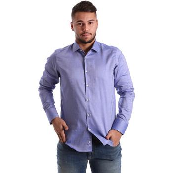 Textiel Heren Overhemden lange mouwen Gmf 972103/05 Blauw