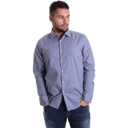 Textiel Heren Overhemden lange mouwen Gmf 972144/01 Blauw