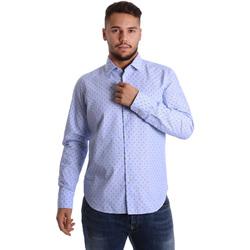 Textiel Heren Overhemden lange mouwen Gmf 972158/01 Blauw