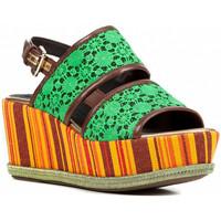 Schoenen Dames Sandalen / Open schoenen Geox D824VB 08JBC Groen