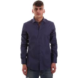 Textiel Heren Overhemden lange mouwen Gaudi 921BU45001 Blauw