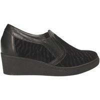 Schoenen Dames Mocassins Grunland SC3525 Zwart