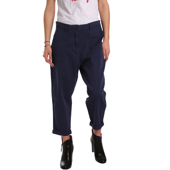 Textiel Dames Chino's Tommy Hilfiger DW0DW02588 Blauw