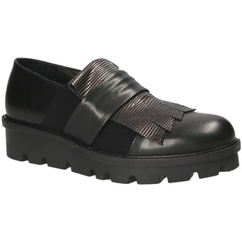 Schoenen Dames Instappers Mally 5965 Zwart