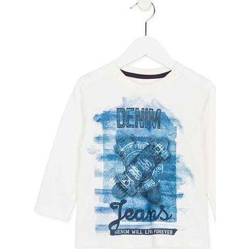 Textiel Kinderen T-shirts met lange mouwen Losan 725 1000AC Wit