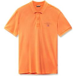 Textiel Heren Polo's korte mouwen Napapijri N0YIJ5 Oranje