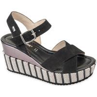 Schoenen Dames Sandalen / Open schoenen Valleverde 32435 Zwart