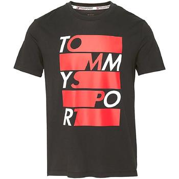 Textiel Heren T-shirts korte mouwen Tommy Hilfiger S20S200052 Zwart