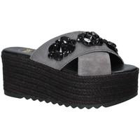 Schoenen Dames Leren slippers Exé Shoes G4700885736T Zwart