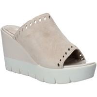 Schoenen Dames Leren slippers Impronte IL91611A Beige