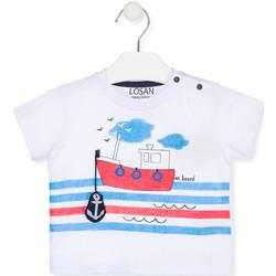 Textiel Kinderen T-shirts korte mouwen Losan 017-1004AL Wit