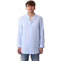 Textiel Heren Overhemden lange mouwen Calvin Klein Jeans K10K105389 Blauw